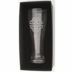 23 Oz. Giant Beer Glass with Etched Celtic Knot