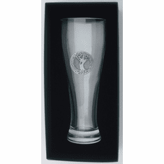 23 Oz. Giant Beer Glass with Pewter finish Tree of Life