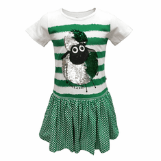 2way Sequin Sheep Stripe Kids Dress