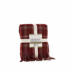 Acrylic Red Check Throw
