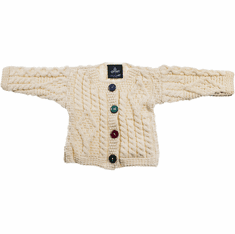 Aran Baby Jacket Sweater
