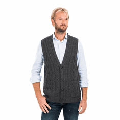 Aran Sleeveless Cardigan