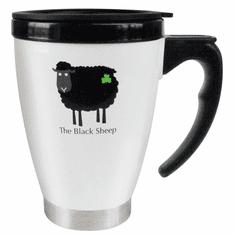 Black and White Sheep Travel Mug