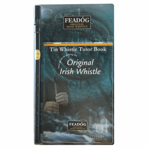 Black Brass D Tin Whistle and Tutor Book