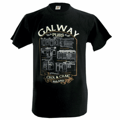 Black Galway Pubs Men's T-Shirt