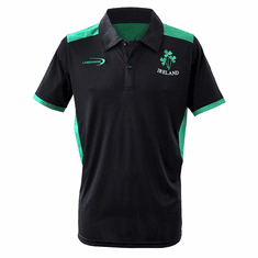 Black Ireland Performance Polo