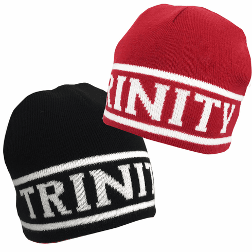 Black/Red Trinity Reversible Knit Hat