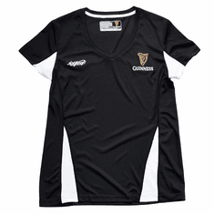 Black/White Guinness Ladies V-Neck T-Shirt