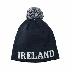 Bottle Green Ireland Bobble Knit Hat