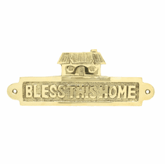 Brass Bless This Home Wall Plaque