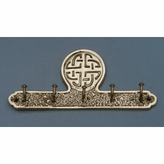Brass Celtic Design Key Holder With 5 Hooks