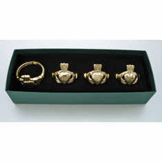 Brass Claddagh Napkin Ring Set ( 4 to a set )