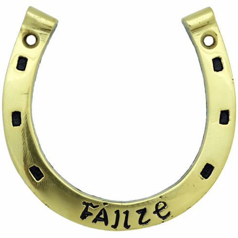 Brass Horse Shoe Wall Plaque