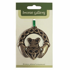 Bronze Plated Ornament - Claddagh Ring