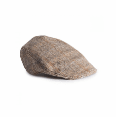 Brown Herringbone Donegal Tweed Touring Cap