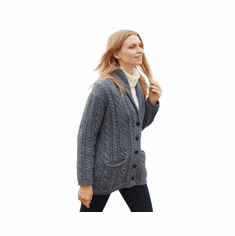 Cable Knit Irish Shawl Cardigan