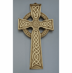 "Celtic Bronze Cross ""IHS"" Center Medium"