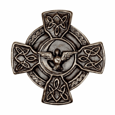Celtic Cross and Peace Prayer Bronzed Wall Plaque