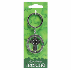 Celtic Cross Spinner Keyring