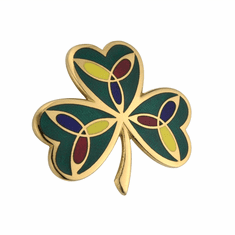 Celtic Jewellry Plated Shamrock Brooch