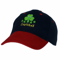 Celtic Kids Smiley Irish Shamrock Baseball Cap
