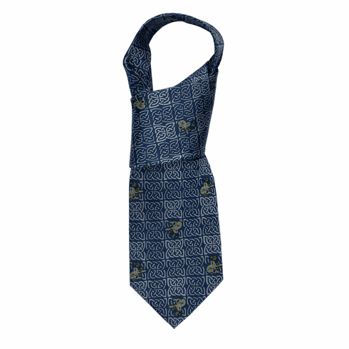 Celtic Knot Silk Blue Tie