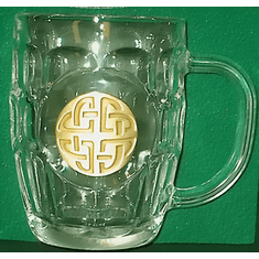 Celtic Knotwork 20 ounce Hobnail Glass Tankard Gift Boxed