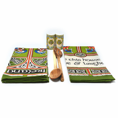 Celtic Peacock Blessing Tea Towels Set of 2
