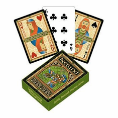 Celtic Peacock Playing Cards