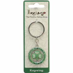 Celtic Shamrock Spinner Keyring