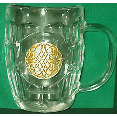 Celtic Swirl 20 ounce Hobnail Glass Tankard Gift Boxed  ( 1 only )