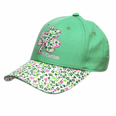 Apple Green Ireland Shamrock Kids Baseball Cap