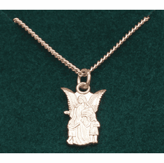 "Child Guardian Angel Gold-plated Sterling Silver 16"" chain"