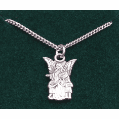 "Child Guardian Angel Medal Sterling SIlver 16"" Chain"