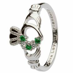Claddagh Heart Detail Ring