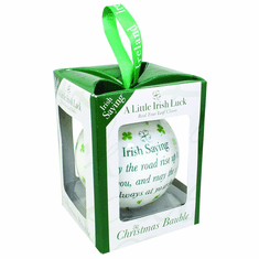 Clover Christmas Bauble White