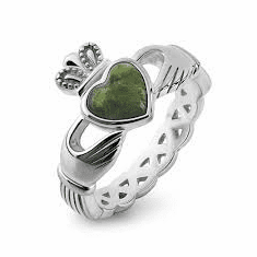 Connemara Stone Claddagh Ring