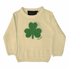 Cream Irish Shamrock Kids Jumper