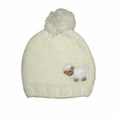 Cream Sheep Kids Knit Hat