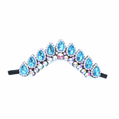 Crystal Flexi Headband On Black Backing