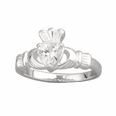 Cubic Zirconia Setting Claddagh Ring