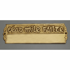 "Deluxe Brass ""Cead Mile Failte"" Door Wall Plate"