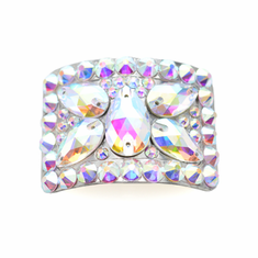 Diamante Buckles with Butterfly Design in AB Crystals