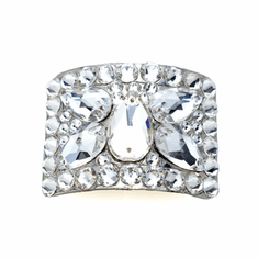 Diamante Buckles with Butterfly Design in Clear Crystals