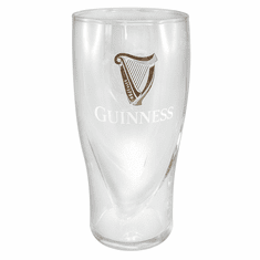 Embossed Guinness Pint Glass