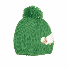 Emerald Green Sheep Kids Knit Hat