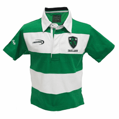 Emerald Green Ireland Crest Short Sleeve Kid's Rugby