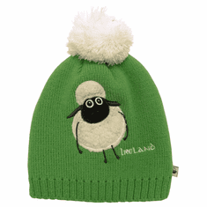 Emerald Sheep Bobble Kids Knit Hat
