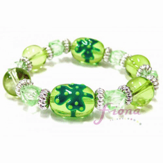 Fiona Shamrock 3D Hand Painted Kids Irish Bracelet