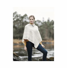 Fisherman Knit Poncho